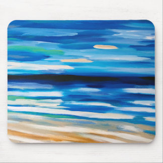 Abstract Painting beach scene mouse pad