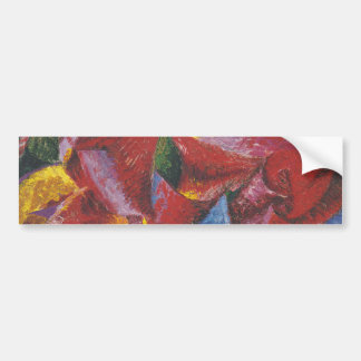 Abstract painting by Umberto Boccioni Bumper Sticker