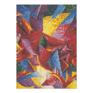 Abstract painting by Umberto Boccioni Custom Invitation