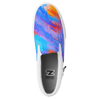 Abstract Painting Color #01 Zipz Slip On Shoes