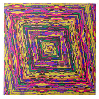 Abstract Painting Colorful Tunnel Tile