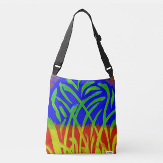 Abstract painting crossbody bag