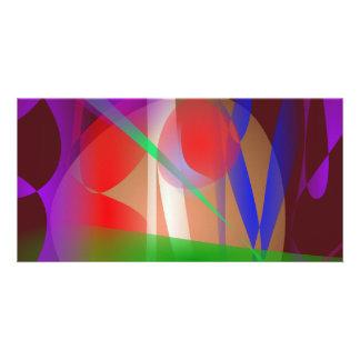 Abstract Painting Dark Brown Custom Photo Card