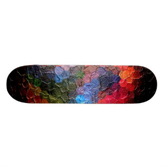 Abstract Painting Dynamic Colors 2 Skate Board