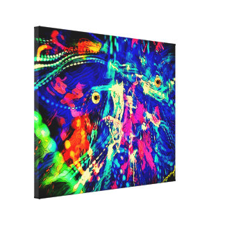 """Abstract Painting """"Ghost in the Machine"""" by donnyM Canvas Print"""