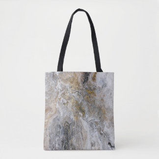 Abstract Painting Grey Black Gold White Artwork Tote Bag