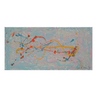Abstract Painting Mixed Media Poster