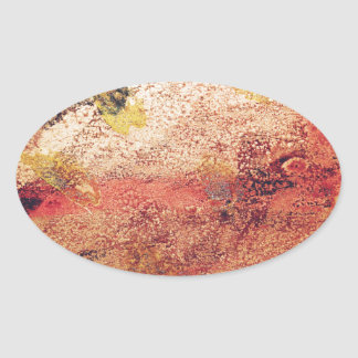 Abstract Painting Oval Sticker