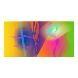 Abstract Painting Photo Card