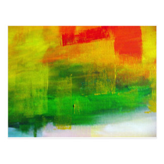 Abstract Painting Postcard