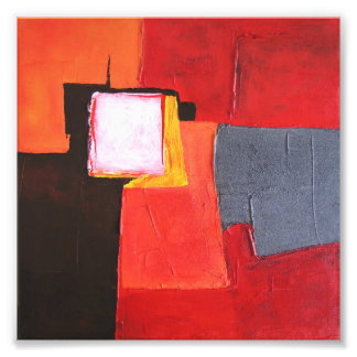 Abstract Painting Red and Yellow - Modern Photo