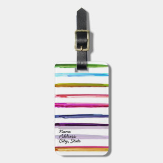 Abstract Painting | Retro Colorful Luggage Tag