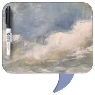 Abstract Painting Thought Speech Bubble Dry Erase Dry Erase Board