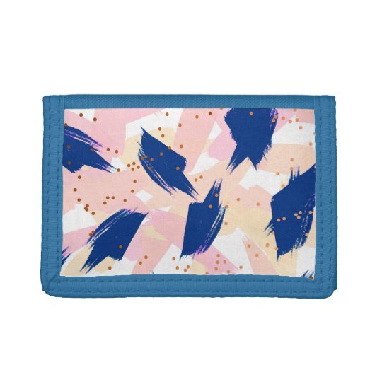 Abstract painting V3 nylon blue wallet