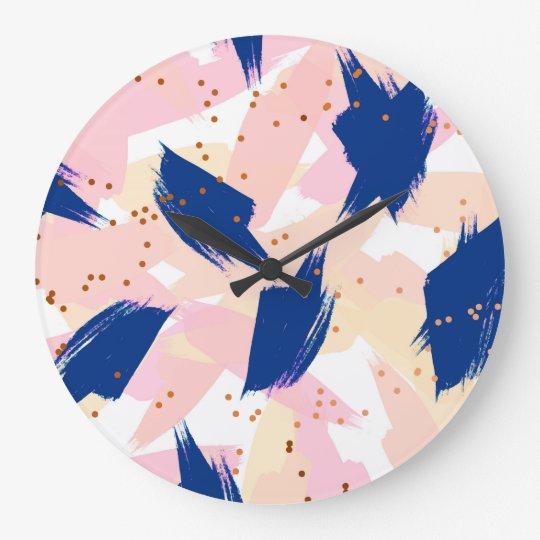 Abstract painting V3 rounded clock