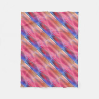 Abstract paints fleece blanket