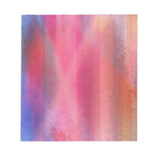 Abstract paints notepad