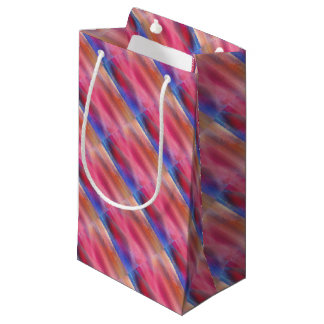 Abstract paints small gift bag