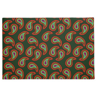 Abstract Paisley Design Doormat