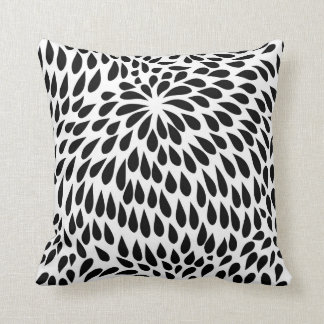 Abstract Paisley Flower Petal Pattern Throw Pillow