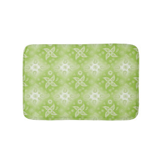 abstract paisley green pattern. bath mat