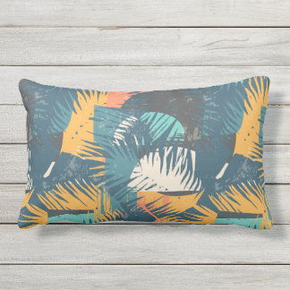 Abstract Palm Leaf Pattern throw pillows