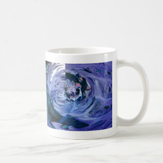 ABSTRACT PALM LEAVES CLASSIC WHITE COFFEE MUG