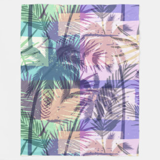 Abstract Palm Tree Pattern fleece blankets
