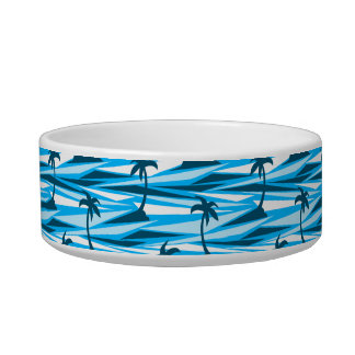 Abstract palm trees bowl