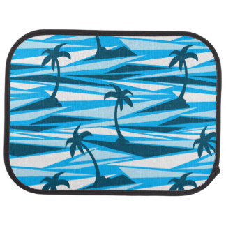 Abstract palm trees car mat
