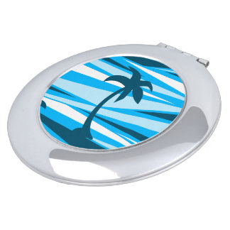 Abstract palm trees compact mirror