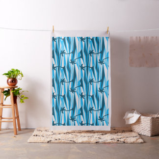 Abstract palm trees fabric