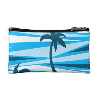 Abstract palm trees makeup bag