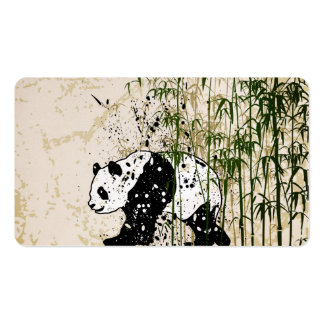 Abstract panda in bamboo forest pack of standard business cards