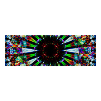 Abstract Panoramic Art Poster