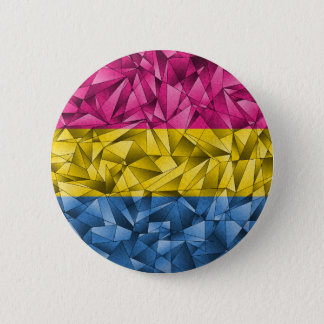 Abstract Pansexual Flag 2 Inch Round Button