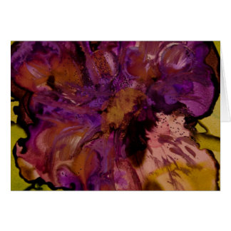 Abstract Pansy collection Card
