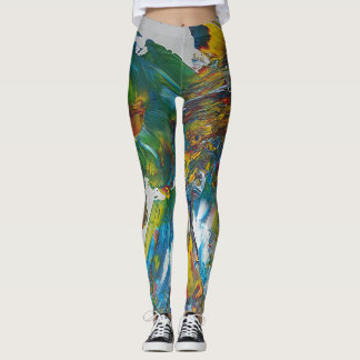 Abstract parrot leggings