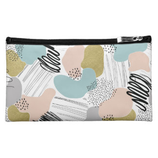 Abstract Pastel Cosmetics Case Cosmetic Bag
