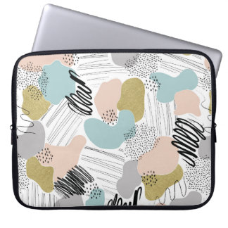 Abstract Pastel Laptop Sleeve