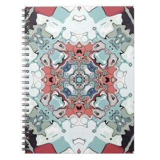 Abstract Pastel Mandala Spiral Notebook