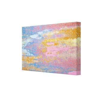 abstract pastel paint texture with gold flecks canvas print