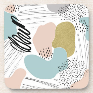 Abstract Pastel Pattern Coasters