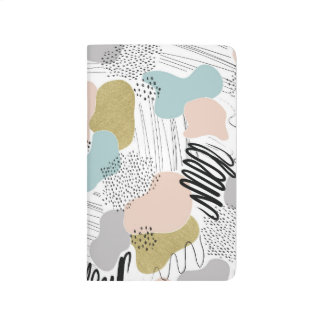 Abstract Pastel Pocket Journal
