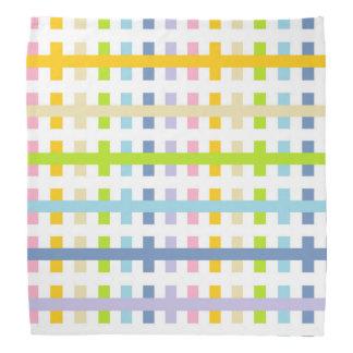Abstract Pastel Rainbow and White Bandana