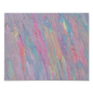 Abstract, Pastel, Rainbow, Handpainted, Original Poster