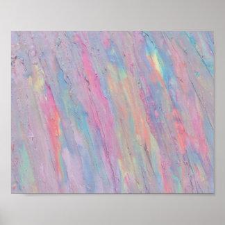 Abstract, Pastel, Rainbow, Handpainted, Original Poster