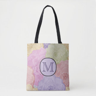 Abstract Pastel Watercolor Floral Tote Bag