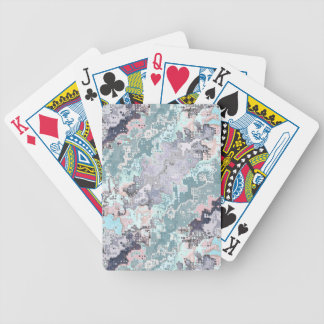 Abstract Pastels Pattern Bicycle Playing Cards