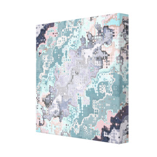 Abstract Pastels Pattern Canvas Print